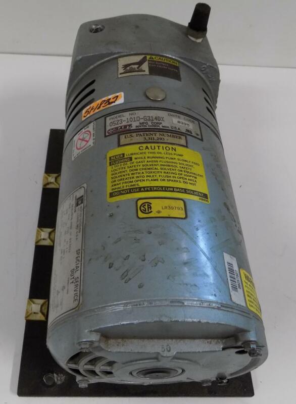 GAST 1/4HP 1725RPM 230V VACUUM PUMP 0523-1010-G314DX