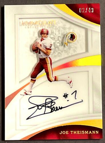 Joe Theismann Signed Washinton Redskins 8x10 Photo PSA//DNA Auto
