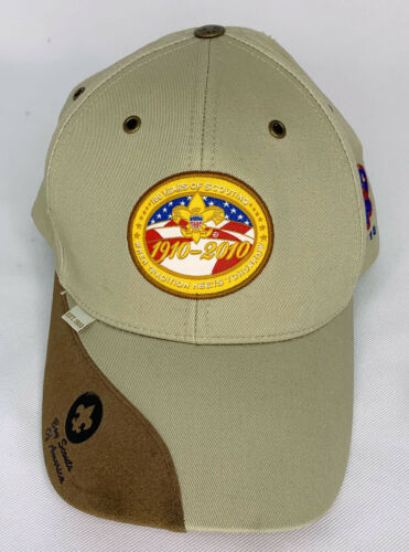 Boy Scouts Of America 100 Year Anniversary Hat Cap BSA 1910-2010 Strapback RARE