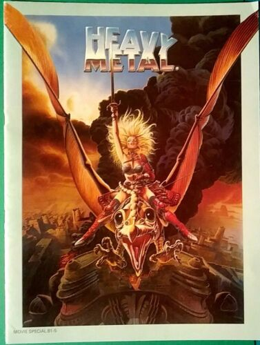 """HEAVY METAL MOVIE SPECIAL MAGAZINE, 20 PAGE """"PRESSBOOK"""", 9x12"""", FULL COLOR & B&W"""