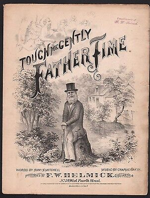 Touch Me Gently Father Time 1877 Sheet Music
