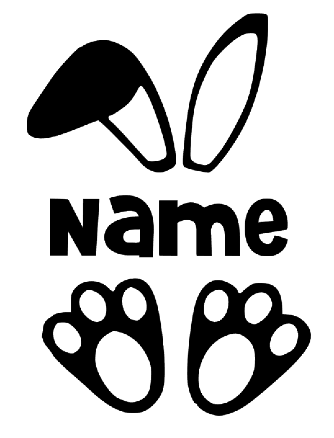 Personalised Easter Bunny Vinyl Decal Sticker