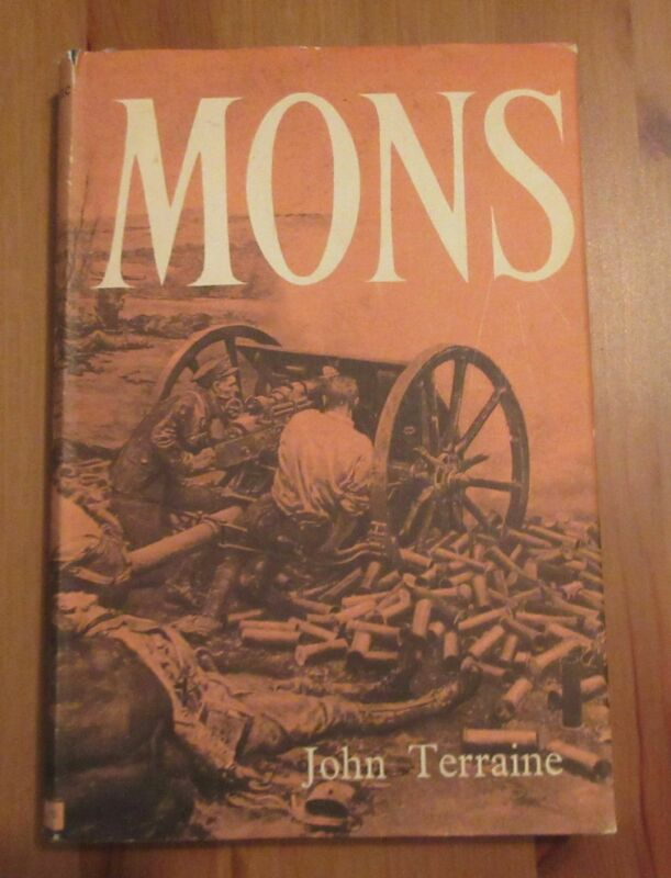 old WW1 book MONS BATTLE john terraine