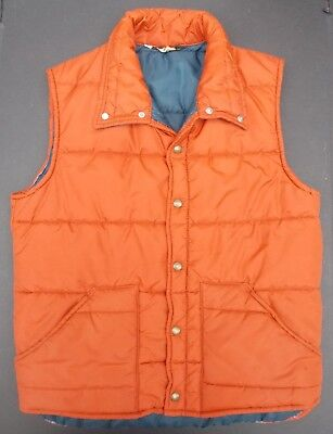 Back To The Future Vest (Penneys Vintage Puffer Vest Rust Orange Marty McFly Back to the Future)