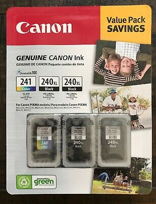 Canon PG-240XL/CL-241 Ink Tank Cartridge, Black/Tri-Color 3 pack Factory