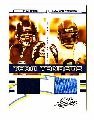 2006 Drew Brees Tomlinson Absolute Game Used Patch /100 GU Jersey Playoff SSP TT