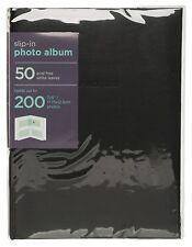 "WHSmith Slip-In Photo Album 50 Acid Free Leaves Book Bound Holds 200 7x5"" Photos"