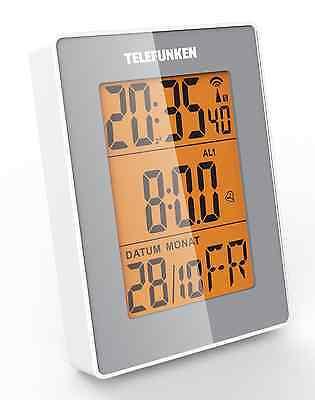 Funkwecker Wecker digital Multifunktion Bewegungssensor TELEFUNKEN FUD-30 grau