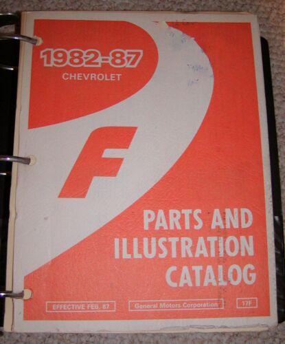1982-87 Chevrolet Camaro (F Car) Parts and Illustration Catalog