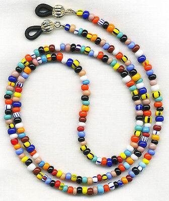 Unique Colorful Beaded Eyeglass~Glasses Holder Necklace Chain *CUSTOM LENGTH*