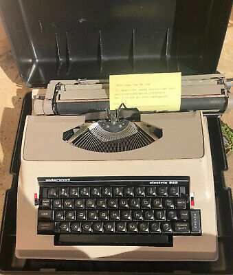 VTG Underwood 565 Electric Portable Typewriter Fitted Hard Case / TESTED Working