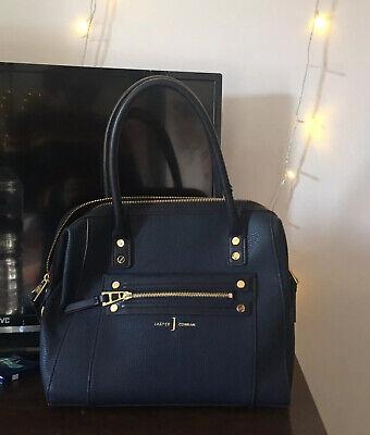 NEW J by Jasper Conran Handbag - Navy studded zip detail bowler bag RRP £49.99