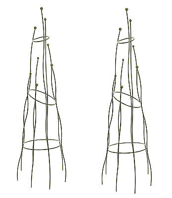 2 x Crooked Sage Garden Boutique Obelisks by Tom Chambers (1.6m high) - Support