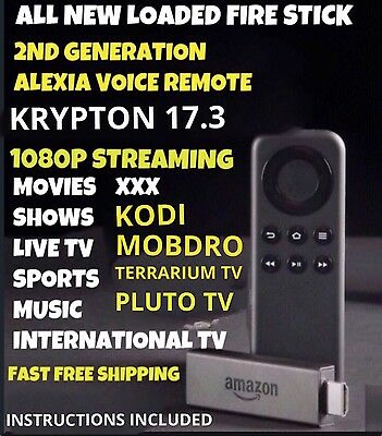 JAILBROK3 Fire STICK TV w/ Alexa Quad 2nd Gen UNLOCK3D 17.3 FREE SHIPPING