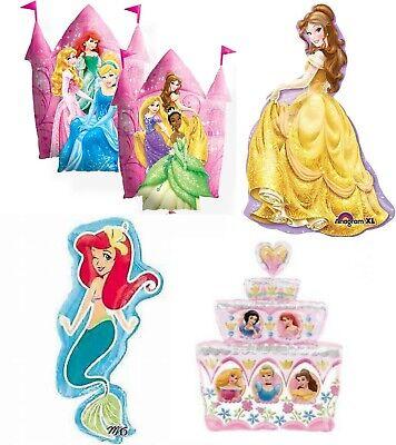 Disney Princess Belle Ariel Castle Cake Jumbo Foil Mylar Birthday Party Balloon  Castle Birthday Cake