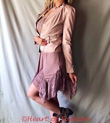 Lace Trim Tank Kleid (Boho Women's Handkerchief Hem Lace Trim Camisole Tank Top Extender Slip Dress)