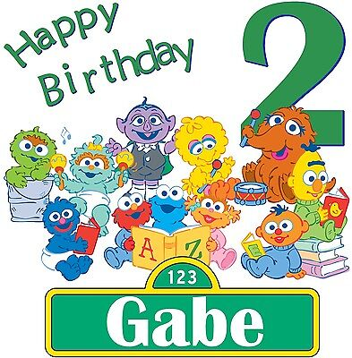 Baby Sesame Street Elmo CustomTshirt Personalize birthday party gift  PBS  - Elmo Baby