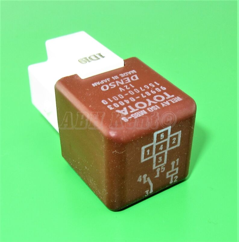 491-Toyota Lexus 5-Pin Brown Relay ISO MB5-S 90987-04003 Denso 156700-0010 12V