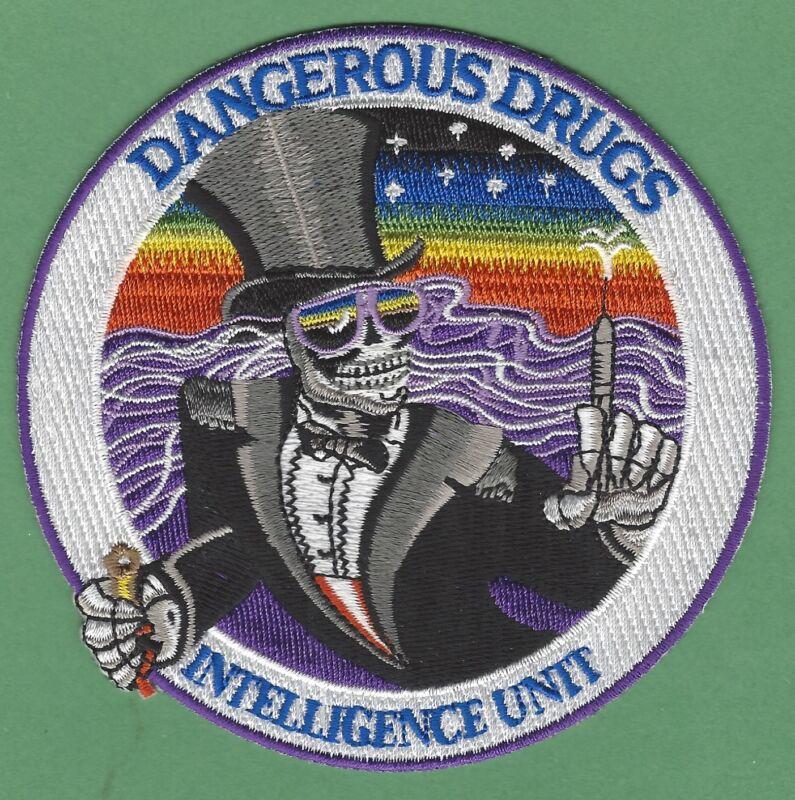 DEA DRUG ENFORCEMENT ADM DANGEROUS DRUGS INTELLIGENCE UNIT POLICE PATCH