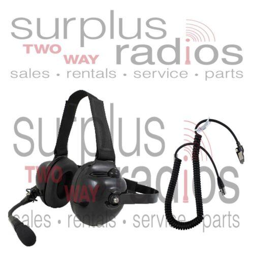 NEW PRYME DUAL MUFF RACING HEADSET FOR KENWOOD K2 NX200 NX300 TK3180 TK2180 TK28