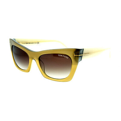 178239d21d4b5 Tom Ford FT0459 38F Bronze w Cream Arms Women s Full Rim Cat Eye Sunglasses
