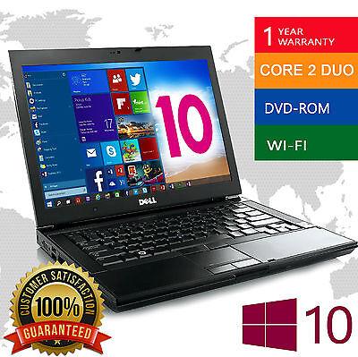 Laptop Dell Latitude PC Notebook computer Fast Intel Dual Core 4GB DVD WiFi HD