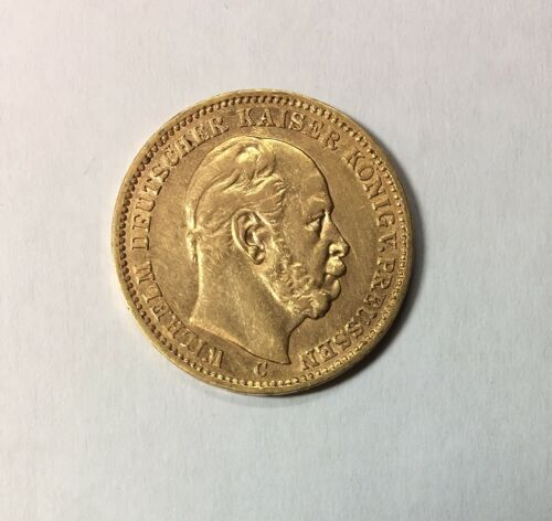 1873-C 20 Mark gold coin XF Prussia Germany