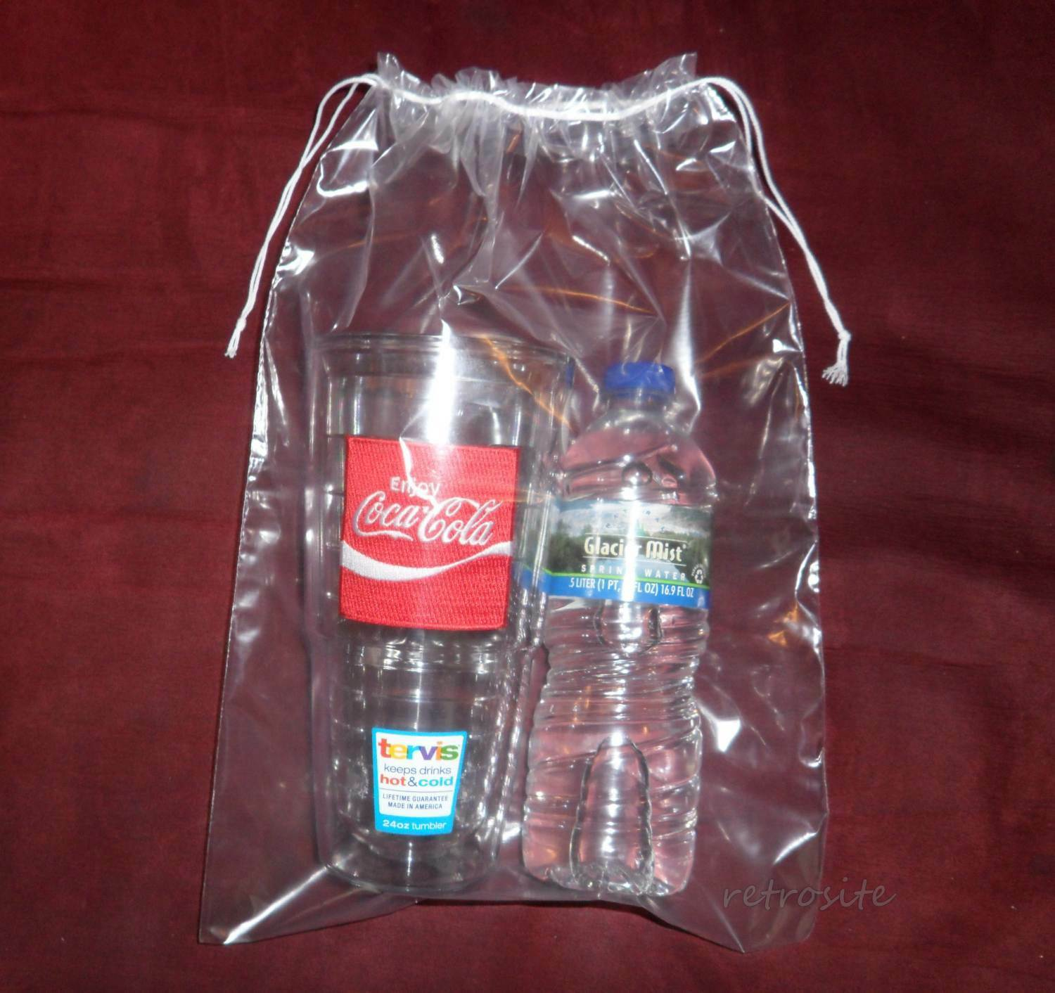 50 Qty 10 X 14 Double Drawstring Clear Poly Plastic Bags 2mil Reusable/durable
