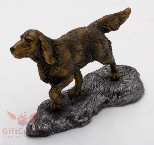 Tin Pewter Figurine of English Setter Dog IronWork