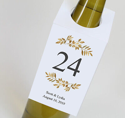Wedding Wine Bottle Table Numbers, Personalized Wine Tags - Wine Bottle Table Numbers