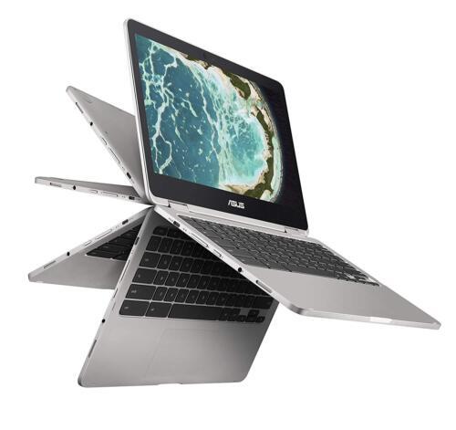 "Asus Flip C302CA 12.5"" Touch-Screen Chromebook Intel Core m3 4GB Memory 64GB eMMC Flash Memory Metallic gray C302CA-DHM4"