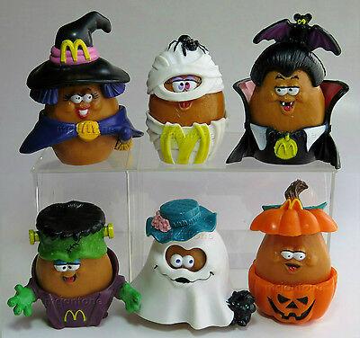 Loose Set 6 Mcdonalds 1993 Mcnugget Buddies Halloween Nugget Buddy Complete