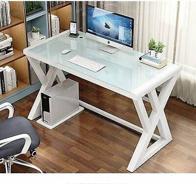 Computer Desk Pc Laptop Corner Gaming Table Study Workstation Home Office Glass