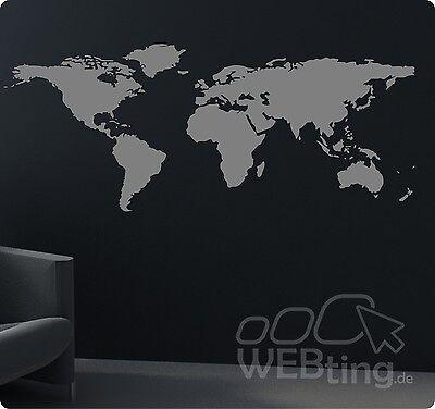 tkugel Wandtattoo Aufkleber Welt Sticker World Earth Kugel (Aufkleber-welt)