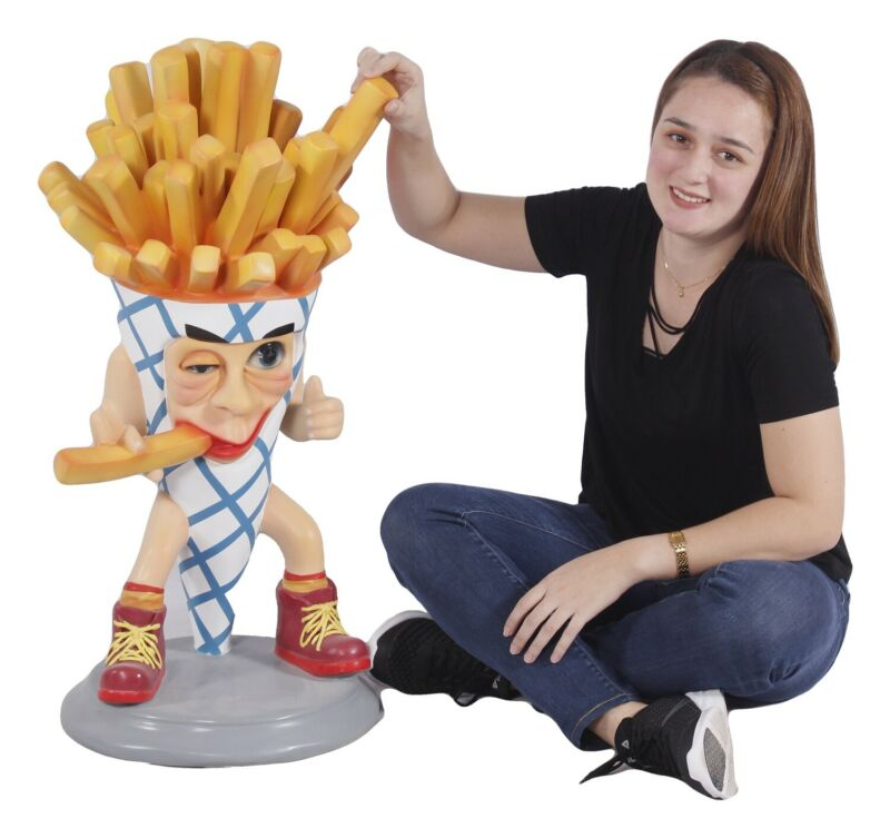 French Fry Statue - Funny French Fries Display Statue- Restaurant Decor 3
