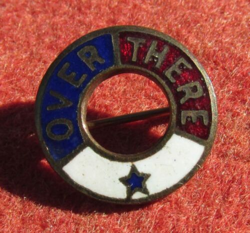 Enameled WW1 Over There Pin