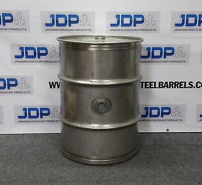 Stainless Steel Barrel With Side Bung 40 Gallon Heavy Duty Sanitary Inside