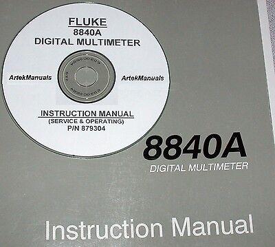 Fluke 8840a Dm Instruction Manual Operating Service Good Schematics
