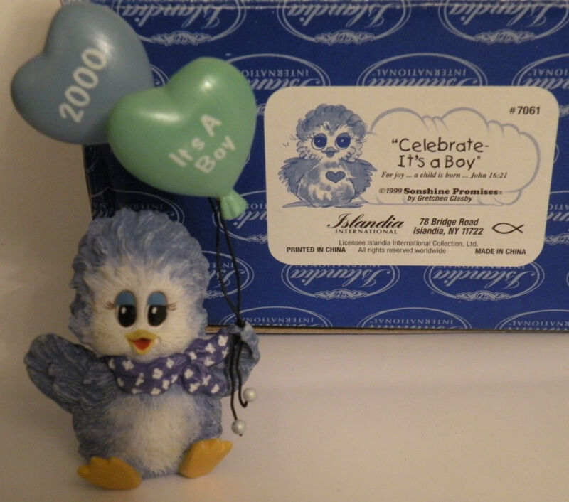 "Sonshine Promises Product # 7061 "" Celebrate-It's A Boy "" Year 2000"
