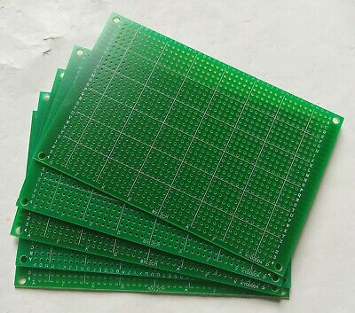 5pcs Single Side Fr-4 Pcb Prototyping Perf Board Breadboard 8x12cm 80x120mm