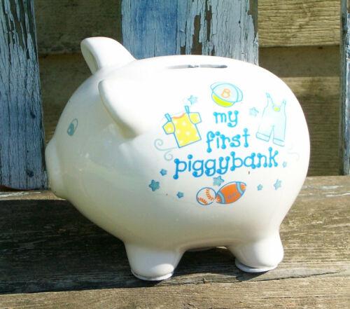 Baby Boy My First Piggy Bank Bear Piggy Bank