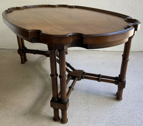 Brandt Hollywood Regency Coffee Table Faux Bamboo