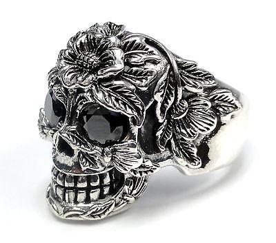 Men's  Black Diamond Skull Ring 2.20 ct. Black Diamond Skull Ring