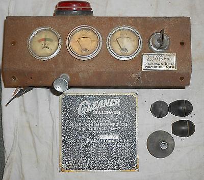 Vintage Allis Chalmers Gleaner Baldwin Model A Dash With Gauges Key Spec Plate