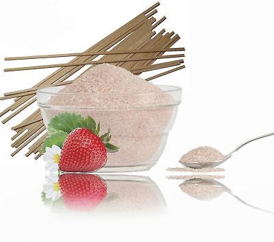 500g Erdbeer Zucker,Farbaromazucker+50 Zuckerwattestäbe f. Zuckerwattemaschine