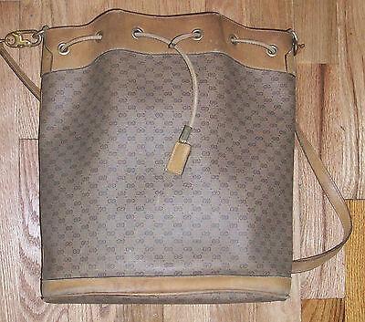Vintage Gucci Drawstring Bucket Shoulder Bag Handbag Purse