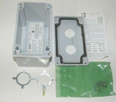 Stahlin Non-metallic Enclosure Pb 6x4x4 Fg 2 Hole 4364644 P30ems02x Made In Usa