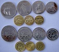 South Ossetia 2013 Serie 7 Monete 10-5-2-1 Rublo 50-20-10 Koneek Non Ufficiale -  - ebay.it