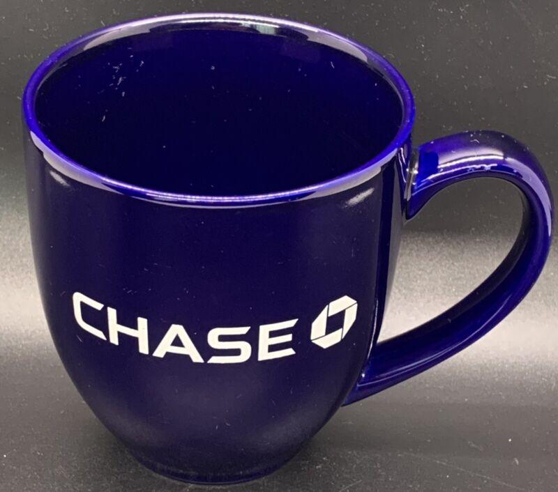 Cobalt Blue Chase Bank Advertising Mug 14oz