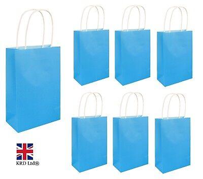 NEON BLUE PARTY BAGS Kids Halloween Favors Hen Night Birthday Goodies Gift UK ()